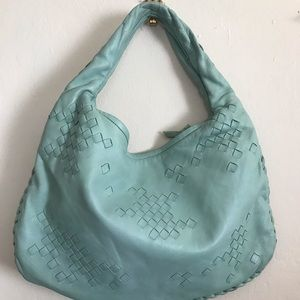 Bottega Veneta seafoam blue bag